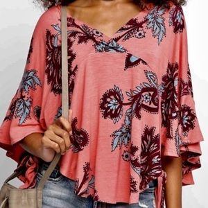 Free People Maui Wowie Floral Top